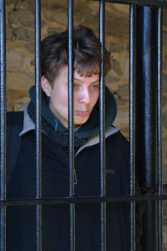 Beautiful even behind bars and pouting :-)